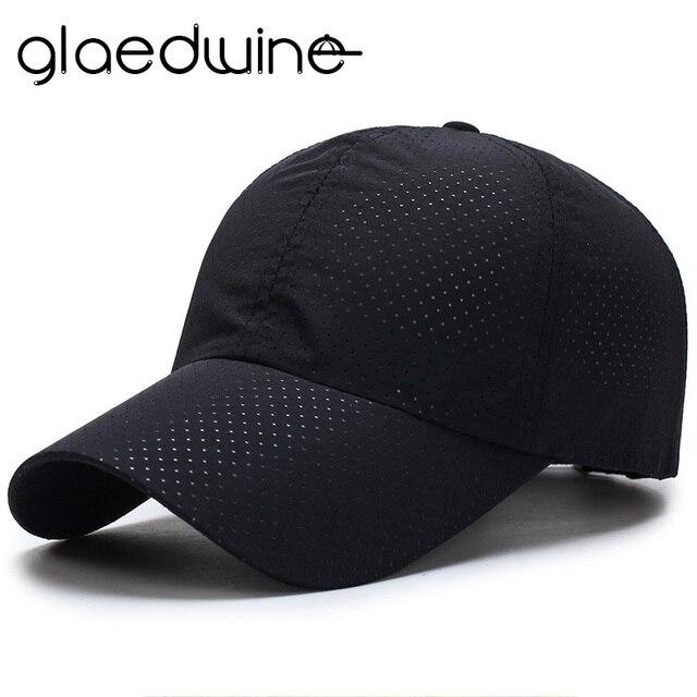 33e2668af2f88 Glaedwine sombreros para hombres mujeres 2017 Summer SnapBack Quick Dry  malla gorra de béisbol deportes al