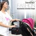 Aislamiento térmico Bolsa de Mamá Bolsa de Cochecito de Bebé Bolsas de Pañales Impermeables organizador de almacenamiento Portavasos Cochecito de bebé Accesorio