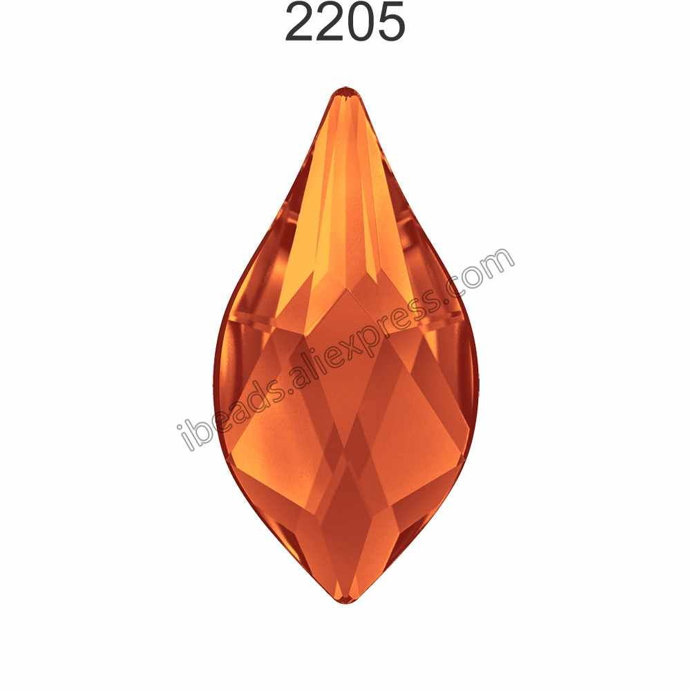 ... (2 pieces) Original Crystals from Swarovski 2205 Flame flat back no  hotfix rhinestone for ... 3e55bc669ce3