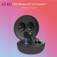 KEXU TWS True Wireless Earbuds Earphones Mini Twins Headset Stereo Bluetooth Earphone Wireless Headphones for iphone Huawei