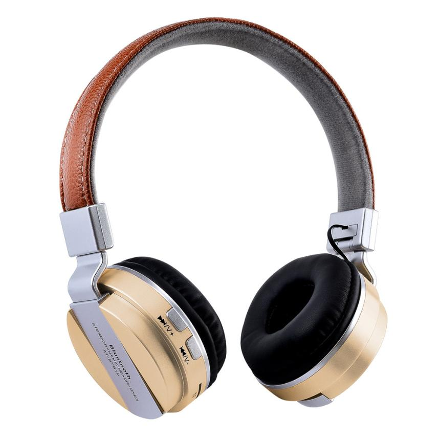 Bluetooth Headphones Over Ear Stereo Wireless Headset With Microphone TF New Dropshipping Mar 27 ks 509 mp3 player stereo headset headphones w tf card slot fm black