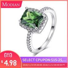 15c01361c946 925 R   J 2018 CT nueva moda anillo de plata de ley cristal Natural joyería  de lujo marca compromiso de boda para regalo de muje.