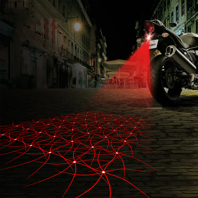 Shining Pattern Laser Light Motorcycle Fog Lamp Motorbike Tail Light Brake Lamp Turn Bulb Accessories