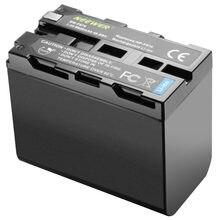 Neewer bateria de íon de lítio 6600mah, bateria para substituição para sony NP-F970 NP-F960 NP-F975 NP-F570 np-f750 NP-F770, apropriado para neewer