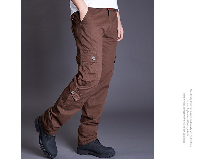 Icpans Winter Tactical Black Cargo Pants Men Loose Fit Military Style Side Pockets Army Black Denim Casual Men Pants Size 40 42 22