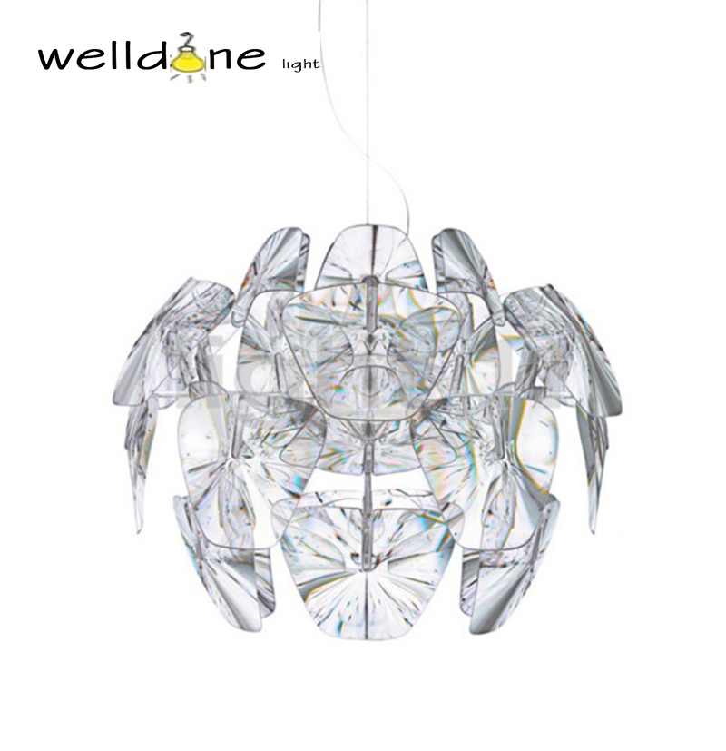 Clear Led E27 Modern D61/72cm Hope Pendant Lamps Acrylic Lampshade Pendant suspension Light Lighting Bedroom Lamp Fixtures vemma acrylic minimalist modern led ceiling lamps kitchen bathroom bedroom balcony corridor lamp lighting study