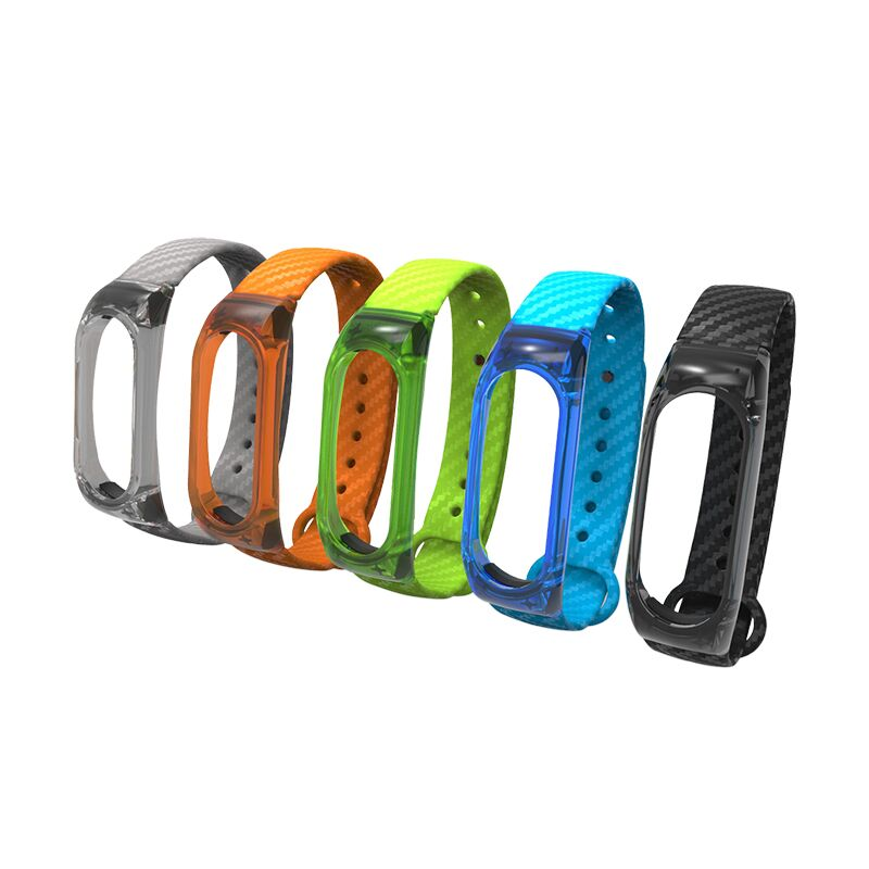 For Xiaomi Mi Band 2 Silicone Strap Sport Crystal wrist strap For xiaomi miband 2 accessories replacement Smart bracelet correa image