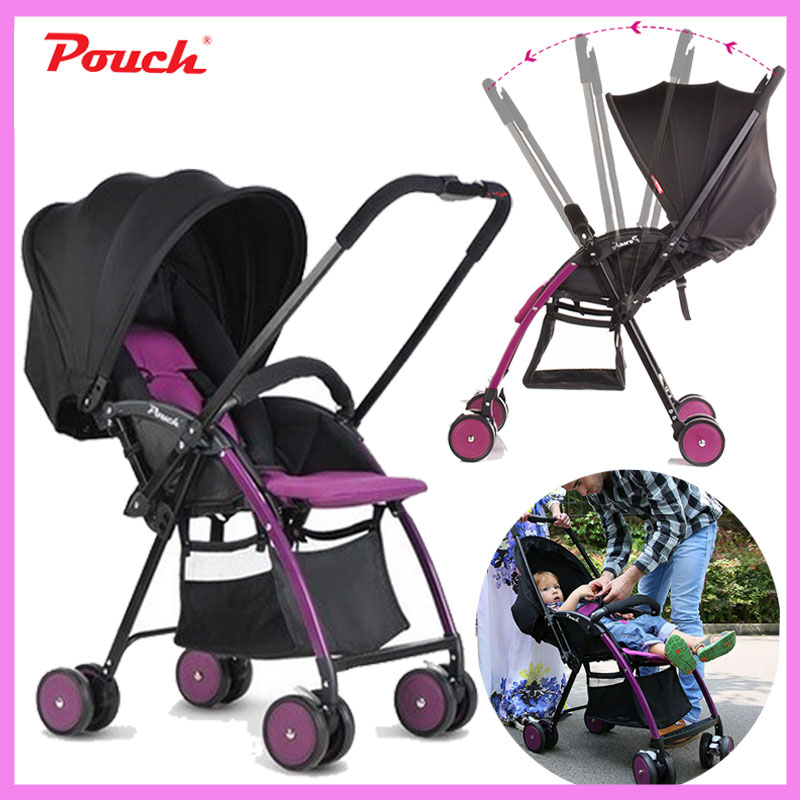 Pouch Portable Baby Trolley Umbrella Car Folding Two-way Baby Can Sit Lie Lightweight Infant Newborn Baby Stroller Wheelchair baby trolley portability portability can sit baby trolley summer folding umbrella car high landscape baby car stroller