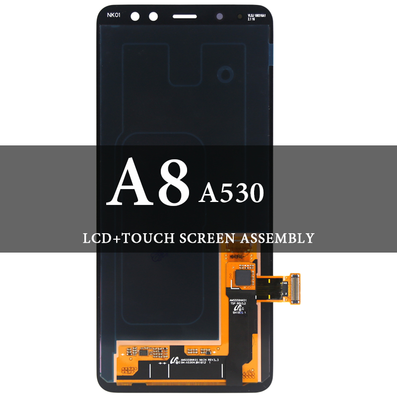 Grade LCD For Samsung A8 A530 LCD Dispaly Super AMOLED With Touch Screen Assembly For Samsung A530 A530F A530N Screen DigitizerGrade LCD For Samsung A8 A530 LCD Dispaly Super AMOLED With Touch Screen Assembly For Samsung A530 A530F A530N Screen Digitizer