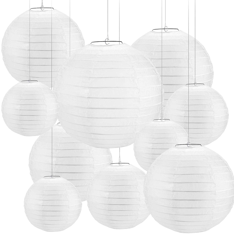 30 pcs 4-12 White Paper Lanterns Chinese lanterne papier lampion Wedding Babyshower Party Halloween Hanging Diy Decor Favor30 pcs 4-12 White Paper Lanterns Chinese lanterne papier lampion Wedding Babyshower Party Halloween Hanging Diy Decor Favor