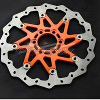Оранжевый ЧПУ алюминия волна дисковые тормоза спереди пригодный для KTM 125 200 390 Duke 2013 2014
