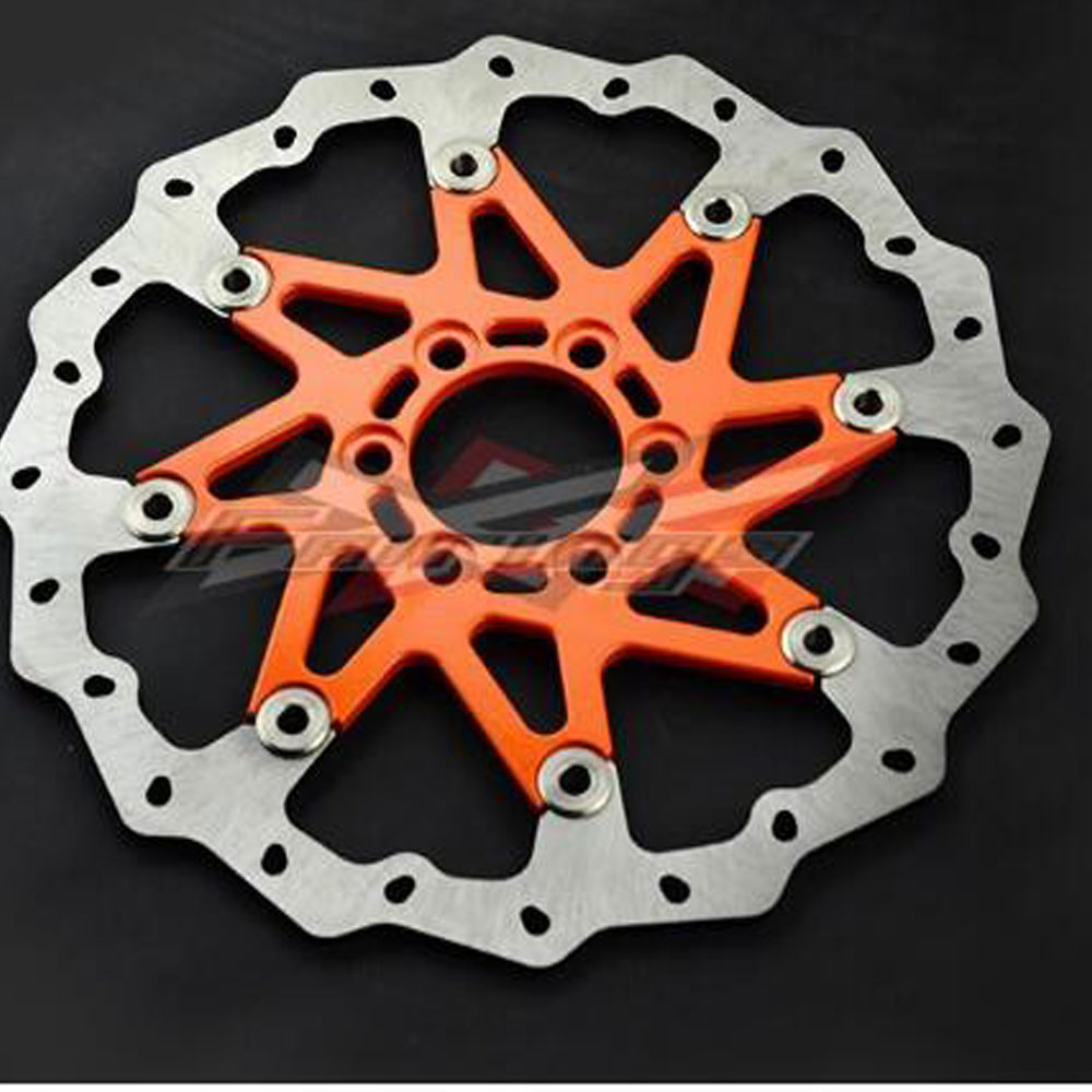 Orange CNC Aluminium WAVE BRAKE DISC FRONT Fit for KTM 125 200 390 DUKE 2013-2014 motorcycle front rider seat leather cover for ktm 125 200 390 duke