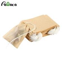 100 шт./лот, чайный пакетик, бумажный фильтр, пакетики, герметичные чайные пакетики, инфузионное чайное ситечко, деревянный пакетик для чая, травяной листовой чай, 3 размера