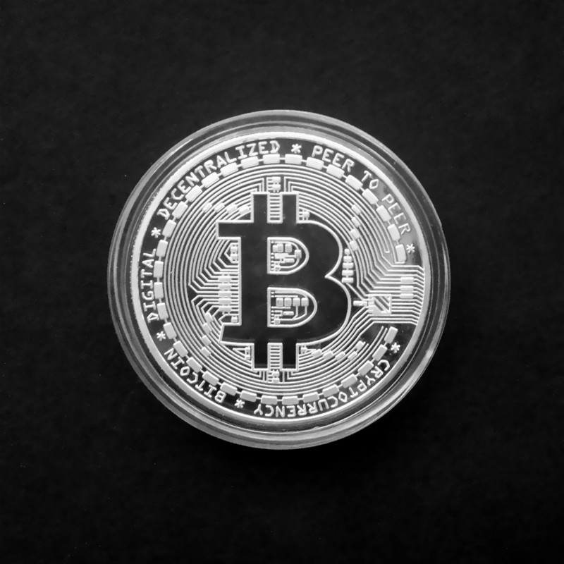 Gold Antique Bitcoin Collectible Art Commemorative Coin Collectible Gift Lucky Gold Plated Coin Bit BTC Metal Imitation40x1.5mm-2
