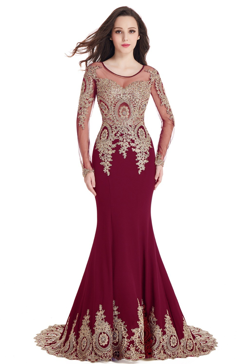 Royal-Blue-Mermaid-Long-Formal-Evening-Dresses-2017-Long-Sleeve-Lace-Burgundy-Prom-Party-Gowns-Kaftan (4)
