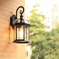HAWBOIRRY LED outdoor waterproof IP65 porch garden wall lamp home retro European aisle corridor lights