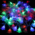LED Christmas tree string lights 7.5 m 50 LEDS /9.5 m 72 LEDS Garland outdoor lighting with EU plug Controller and connector