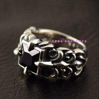 925 стерлингового серебра квадратный лицо, якорь узор, мужские модели тайский серебряное кольцо