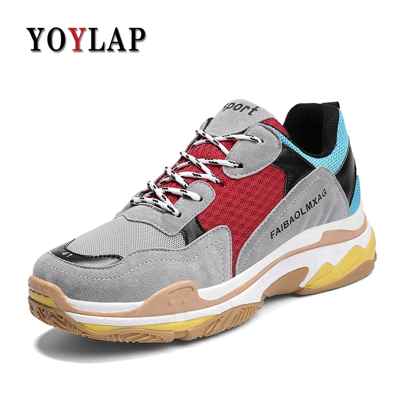 2018 New Design Tenis Masculino Esportivo Mens Sneakers Comfortable Shoes Men Triple S Vintage Suede Lightweight Balencia