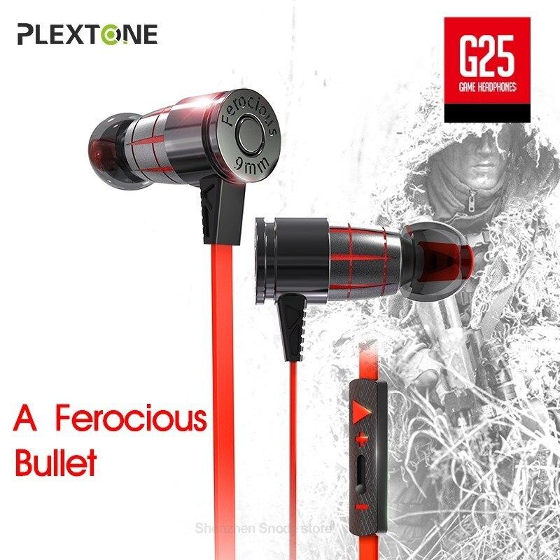 PLEXTONE G25 Gaming Headset Avec Mic In-Ear Filaire Magnétique Stéréo Avec Microphone Écouteurs Ordinateur Écouteurs Pour Téléphone PS4