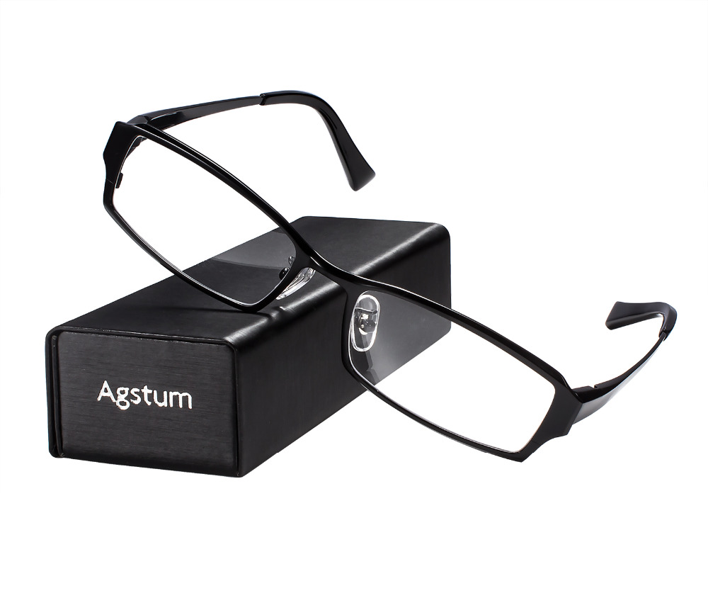 Pure Titanium Bussiness Mens Glasses Frame Full Rim Eyeglasses Clear Lens Rx 108 bowtie decor blue black plastic full rim spectacles glasses eyeglasses frame