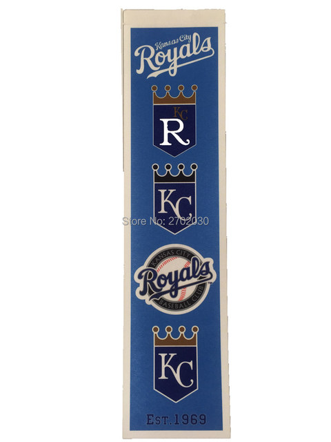 Kansas City Royals Baseball Team San Francisco Giants Rectangle Heritage  Flags Banners With String Felt Pennats 20*81cm -in Flags, Banners &