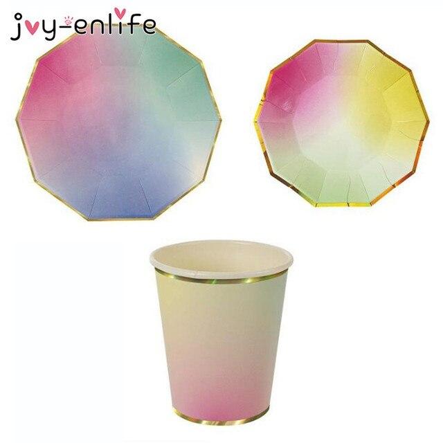 Aliexpresscom Buy JOY ENLIFE Colorful Disposable Tableware