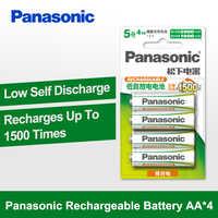 Panasonic 100% Original AA Battery 4PCS/LOT 1.2V 2000mAh Rechargeable Battery Eneloop aa NiMH Batteries For Camera Toys