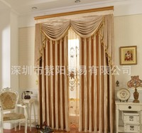 Blackout curtain with rings or hooks,free triming for different size ,1651 ,ready curtains and voile,curtain decor