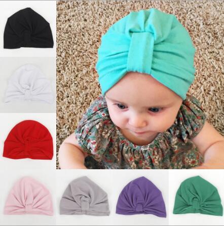10pcs Baby Turban Hat with bow Toddler Turban Hat Newborn Beanie stylish  Topknot beanie cap Photo Props Baby shower gift 62c3a040bda