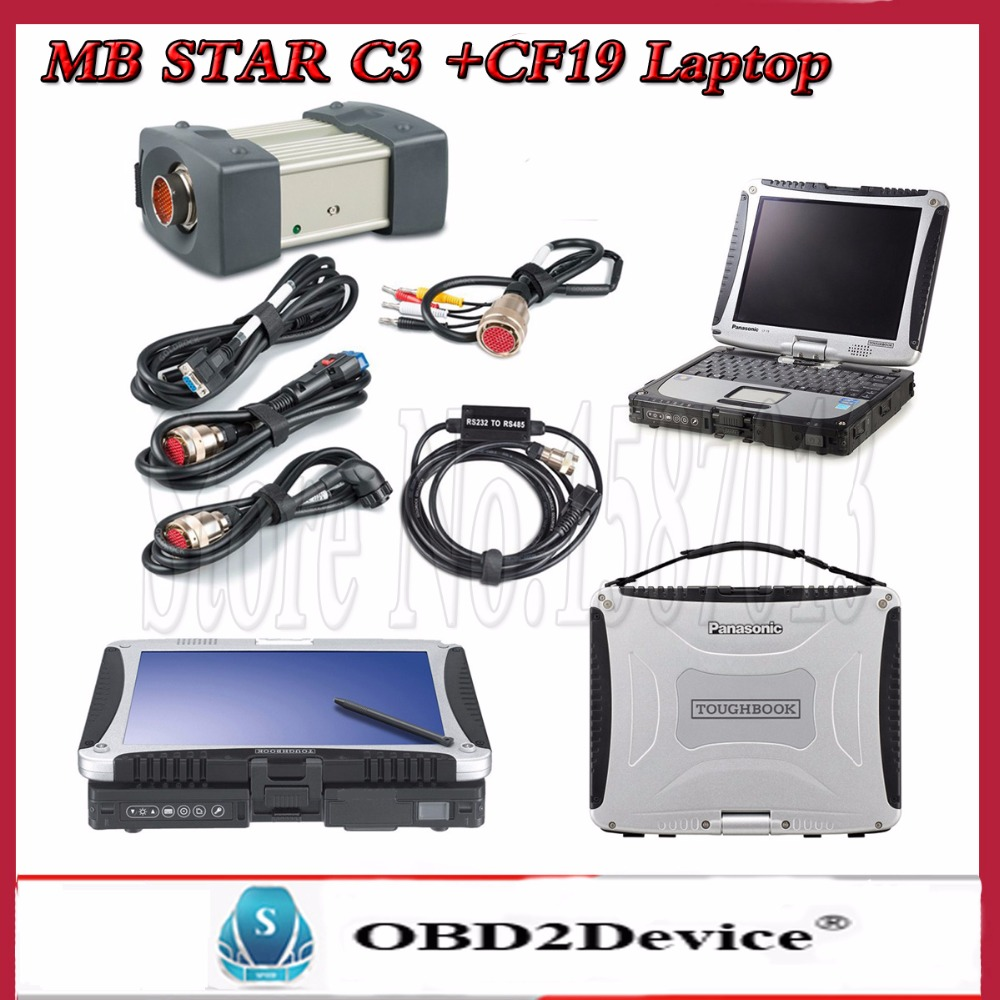 MB STAR C3 Diagnosis MultiplexerSoftware for mb star Diagnosis with Laptop CF-19 Free DHL Shipping a66l 2050 0025 b fanuc cf card connector 1pc new dhl free shipping