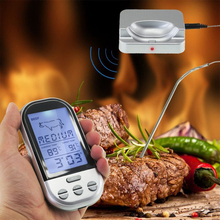 Remote Wireless Digital Food Thermometer Meat Probe Kitchen Oven Smoker Grilling Cooking Thermometer and Timer Water Milk Probe