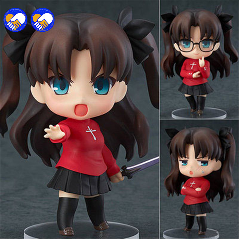 A toy A dream  Cute 4 Nendoroid Fate Stay Night Anime Tohsaka Rin PVC Action Figure Collection Model Doll Toy Gift free shipping 10 4 approx 26 5cm rin tohsaka japan anime fate stay night unlimited blade works pvc action figure