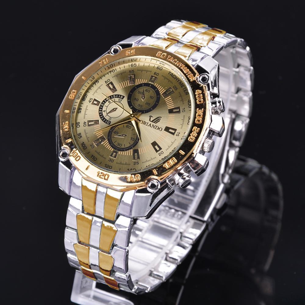 ORLANDO Luxury Men Watches Stainless Steel Quartz Watches Men Business Watches Horloge Man Relogio Masculino Reloj Hombre