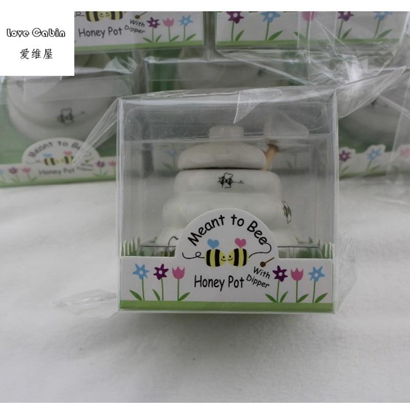 Image 2 - Предназначенный для пчелы керамический горшок для меда 10 шт./лот  свадебный душ для подаркаgift favorgift giftsgift pot