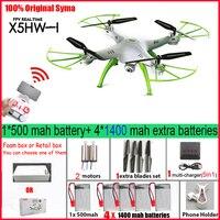 Syma-Dron X5HW FPV RC Quadcopter con cámara WIFI RC Quadcopter con cámara FPV en tiempo Real RC helicóptero cuadricóptero de juguete