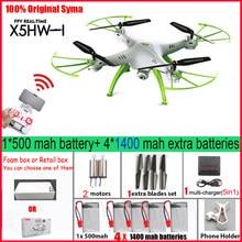 Syma x5hw fpv rc quadcopter zangão com câmera wifi rc quadcopter com câmera fpv tempo real rc helicóptero quad helicóptero brinquedos