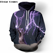 PLstar Cosmos Thundercat sweat chat lightning thunder 3d à capuche femmes hommes Sweats harajuku décontracté
