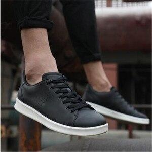 Image 2 - オリジナル xiaomi mijia 革のプレートの靴男性のファッション快適なアンチスリップ本革スニーカーサポートスマートチップ