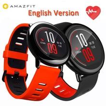 [ภาษาอังกฤษรุ่น]ต้นฉบับXiaomi HuamiนาฬิกาAMAZFITก้าวGPSทำงานบลูทูธ4.0กีฬานาฬิกาสมาร์ทMIอัตราการเต้นหัวใจตรวจสอบCE