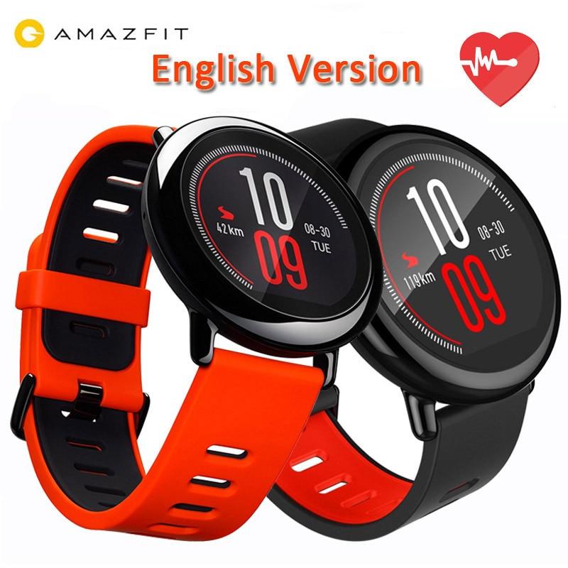 imágenes para [VERSIÓN en INGLÉS] Original Xiaomi Huami Reloj Ritmo AMAZFIT Funcionamiento DEL GPS Bluetooth 4.0 Deportes Reloj Inteligente MI Ritmo Cardíaco Monitor de CE