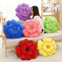 1Pc 50CM 6 Colors 3D PP Cotton Stuffed Rose Plush Toy Cushion Car Flower Series Pillow