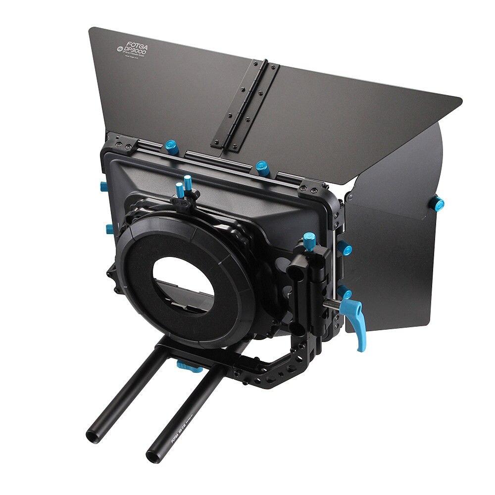 FOTGA DP3000 المهنية سوينغ بعيدا صندوق غير لامع ظلة ل 15 مللي متر قضيب DSLR تلاعب M3