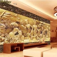 Beibehang תמונה מותאמת אישית טפט קיר קיר קיר טלוויזיה עץ גפן מקל ארמון פיות ילדה פארדה דה papel