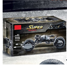 цена на 7115 Super Heroes The Dark Knight Batman batcycle Batmobile 338PCS Bricks batpod Building Blocks Toy Compatible with Legoings