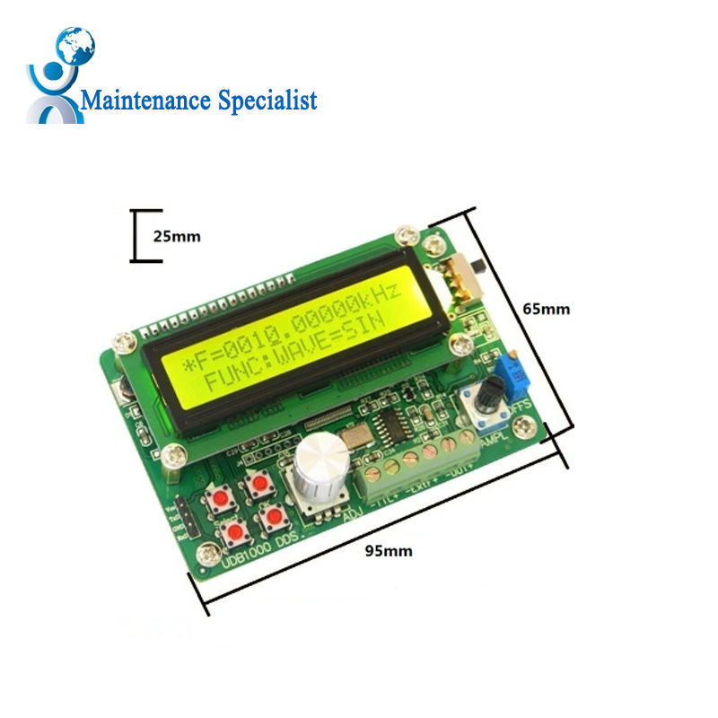 US Plug Multi-functional DDS Function Generator Signal Generator Source Module 60MHz Frequency Counter