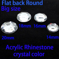 14mm-20mm Tamaño Grande Cristalina de Acrílico de Los Rhinestones Diamantes de Imitación Flatback No Hotfix Pegamento En DIY joyería de Prendas de Vestir