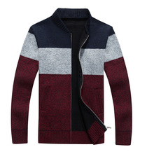 2016 New Winter Mens Cardigan Casual V-Neck Patchwork Knitted Sweater Men fashion Men's jackets TC613