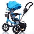 Ребенка трицикл 1-3-6 складной велосипед детская коляска игрушка тележка