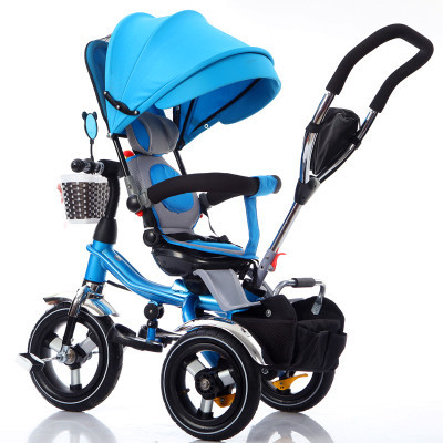Child tricycle 1-3-6 folding bicycle baby stroller toy trolley